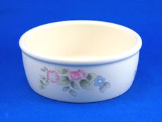 Pfaltzgraff TEA ROSE Individual Chili Crock 6 in. Pink Blue Flowers Stoneware. As always your entire order ships for only $4.99, only at http://www.totallytableware.com/