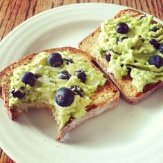 avocados on toast with blueberries \ edible perspective