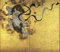 Raijin (雷神) Raijin, also known as Raiden (雷電), is the Shinto kami of lightning, thunder, and storms. He is frequently depicted as a creature resembling an oni (鬼) who beats drums to create thunder. His companion is Raiju (雷獣), a creature with a body made of lightning who become upset during storms, jumping around and scratching objects with his claws (a lightning strike). Some people would hide their navels during storms because it was said that Raiju had a strange fondness for sleeping in…