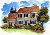 House Plan 92498 | Colonial Country Plan with 1998 Sq. Ft., 4 Bedrooms, 3…