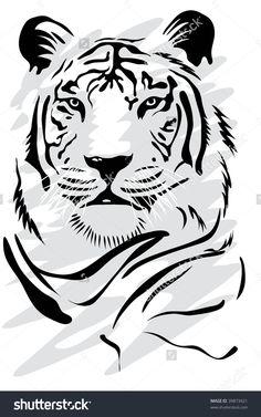 White Tiger Illustration vectorielle libre de droits 39873421 : Shutterstock