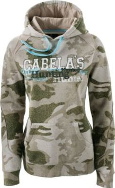 Cabela's Women's Varsity Hunt Logo Hoodie delivers your favorite camo, the warmth of fleece and a big shot of Cabela's pride. The 60/40 cotton/polyester knitted fleece construction surrounds you in softness and warmth. Raise the lined, three-piece hood and pull its drawcord during windy days on the trail. The rib-knit cuffs and sweep seal out gusty weather. Front kangaroo pocket.