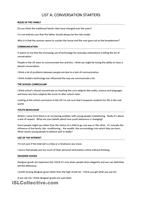 Trinity GESE Grade 10: Conversation Starters  Excellent resource for all types of extra practice