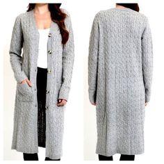 BOYFRIEND CARDIGAN Long Draped Fall Sweater Jacket | Southern ...