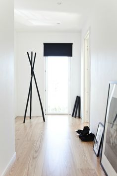 DIY coat rack. I think this would be easy enough and we do desperately need a coat rack.