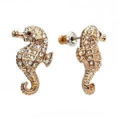 ShopStyle: Lauren ConradLc simulated crystal seahorse button stud earrings