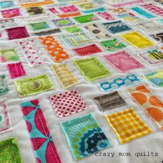 crazy mom quilts: 101 scrap projects. Link should be all blog posts for these projects. Some full quilts from scraps and some tiny pincushions. Lots of inspiration!