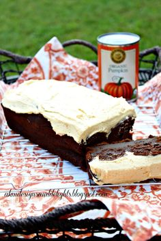 Chocolate Chocolate Pumpkin Cake with Spiced Pumpkin Buttercream