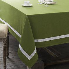 White Line Bi-Color Table Cloth - AUD $ 35.62