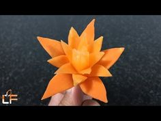 The Art Of Carrot Flower Carving Designs - Vegetable Carving & Designs - YouTube