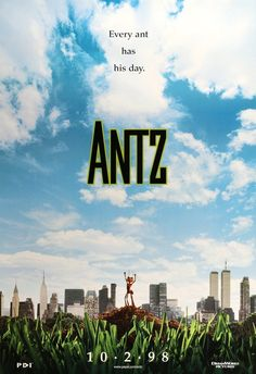 High resolution official theatrical movie poster ( of for Antz Image dimensions: 2013 x Starring Woody Allen, Dan Aykroyd, Anne Bancroft, Danny Glover Good Movies To Watch, All Movies, Horror Movies, Movie Tv, Cartoon Movies, Movie Theater, Disney Movies, Disney Pixar, Art Vintage