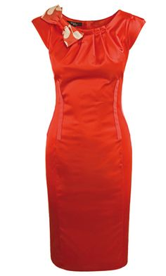 Poppy-orange dress.  Are you bold enough?