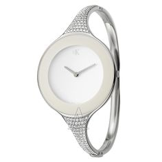 Calvin Klein, Mirror, Women's Watch, Stainless Steel Case, Stainless Steel and Diamonds Bracelet Bangle Type, Swiss Quartz (Battery-Powered), K2823501  Retail:	 $6,500.00  YOUR PRICE:	 $2,599.00