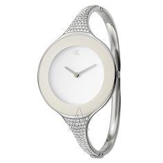 Calvin Klein, Mirror, Women's Watch, Stainless Steel Case, Stainless Steel and Diamonds Bracelet Bangle Type, Swiss Quartz (Battery-Powered), K2823501  Retail: $6,500.00  YOUR PRICE: $2,599.00