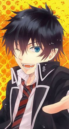 Rin Okumura - Ao no Exorcist (Blue Exorcist) Blue Exorcist Anime, Ao No Exorcist, Blue Exorcist Funny, Blue Exorcist Cosplay, Anime Demon, Manga Anime, Anime Art, Manga Boy, Rin Okumura