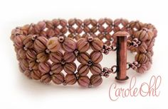 Hey, I found this really awesome Etsy listing at https://www.etsy.com/listing/261510198/melonia-bracelet-tutorial-by-carole-ohl