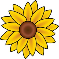 Free Printable Sunflower Stencils Sunflower clip art - vector illustration online, royalty-free and public simple ideas for painting on canvas to make yourself - Sunflower Stencil, Sunflower Template, Sunflower Drawing, Sunflower Pattern, Yellow Sunflower, Sunflower Clipart, Sunflower Design, Sunflower Head, Sunflower Tattoos