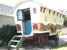 "This beautiful gypsy wagon, which was used as a prop in the 1988 movie ""Big Top Pee-Wee"" has been available for sale since the middle of last year."