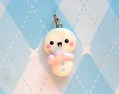 Kawaii Snowman Charm. So cute and chilly!!