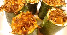 Fabulosa receta para Tacos de calabacín rellenos. Otra forma distinta de hacer calabacines