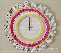 pretty pleated clock tutorial