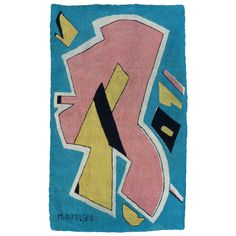 Bert Miripolsky | Mid-Century Playful Abstract Tapestry by Miripolsky