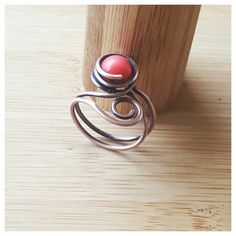 Hey, I found this really awesome Etsy listing at https://www.etsy.com/listing/270883976/wire-wrapped-ring-coral-ring-copper-wire
