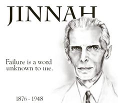 """Failure is a word unknown to me."" - Muhammad Ali Jinnah  #quaideazam #quaideazamday #founderofpakistan #muhammadalijinnah #25december"