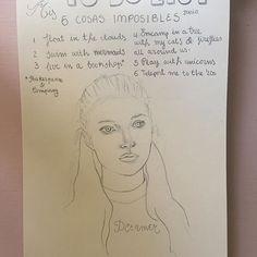 To do list. Mis 6 cosas imposibles (Junio). DREAMER #soñadora #dreamer #soñador #todolist #draw #art #artwork #drawing #sketch #sketchbook #dessin #boceto #pencildrawing #books #mermaids #unicorns #fireflies #20s #clouds #dibujo #mypersonaljournal #mydiary #midiario #ilustracion #illustration