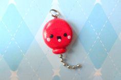 Kawaii Red Balloon Charm Cute Polymer Clay Jewelry Novelty Pendant. $6.00, via Etsy.