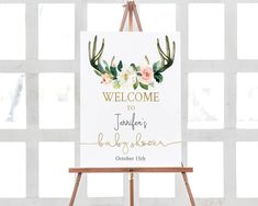 Woodland Welcome Sign Oh deer Baby Shower Welcome Poster Deer Baby Showers, Baby Shower Signs, Baby Deer, Oh Deer, Line Design, Design Art, Welcome Poster, Gold Calligraphy, Frame It