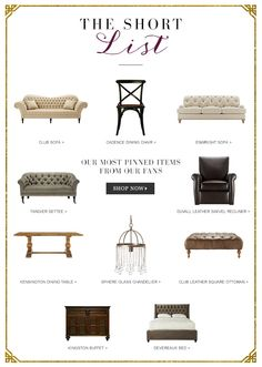 see our most pinned items and enter to win a chance for a 2500 arhaus gift - Dining Room Items