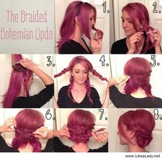 Pink hair - Nice hairstyle - Tutorial - LikeaLady.net on imgfave