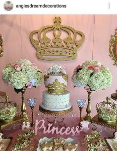 Princess Theme Baby Shower Dessert Table Decor