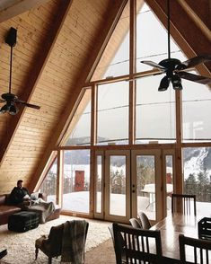 🌟Tante S!fr@ loves this📌🌟The First Video Tour of our A-Frame Cabin - Chris Loves Julia Cabin Homes, Log Homes, A Frame House, Home Design, House Plans, Container Cabin, Cargo Container, Container Design, Container Homes