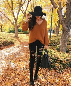 Love the look, but I would do just black skinny, no rips, too cold in the winter.