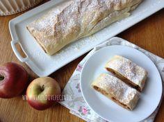Jablečný závin neboli štrúdl - Víkendové pečení No Bake Pies, Sweet Recipes, Red Velvet, Food And Drink, Cheesecake, Ice Cream, Cupcakes, Bread, Baking