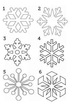 Christmas Stencils, Christmas Templates, Christmas Snowflakes, Christmas Colors, Christmas Art, Christmas Decorations, Christmas Ornaments, Frozen Snowflake, Snowflake Stencil