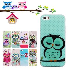 For iPhone 5S Case Cute Owls Soft TPU Gel Case For Cover iPhone 5S 5 SE 4 4S 6 6S 6 Plus 6S Plus 7 7 Plus Silicone Phone Cases