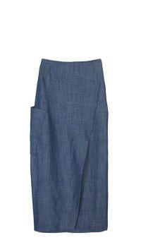 Rigid Denim Skirt from Tibi.com