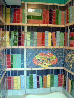 Library theme bathroom