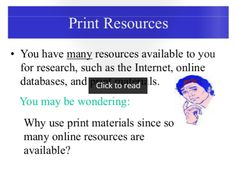 Slideshow about print resources