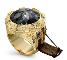 Black diamond Castle #ring by Theo Fennellз