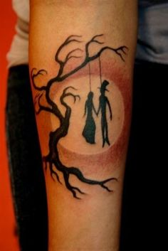 """""""Till death do us part"""" By Corey Miller :) What I think: """"Are you / Are you /   Coming to the tree / Where they strung up a man they say murdered three / Strange things did happen here / No stranger would it be / If we met up at midnight in the hanging tree."""""""