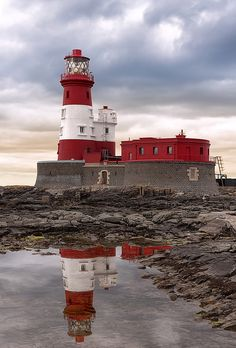 Longstone #Lighthouse - Northumberland, #England. Home to English heroine Grace Horsley Darling (the lighthouse keeper's daughter) who took part in the rescue of some of the passengers and crew of The Forfarshire in 1838. - http://dennisharper.lnf.com/