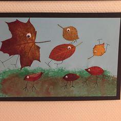 kallevillesdiySpralliga höstlövsfåglar. #kallevillesdiy #löv #höstpyssel #barnpyssel...