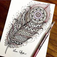 #mulpix #Zendala #zentangle #Mandala #Lisa #Taipei #Taiwan #Zentangle #ZIA #doodle #painting #drawing #feather #peacock #animal #tree #rabbit #flower #artwork #zentangleart #dreamcatcher