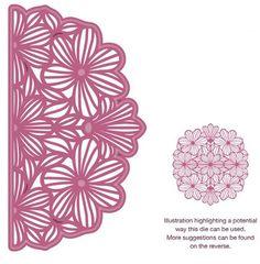 Sue Wilson Designs Configuration Collection Magnolia Adornment die