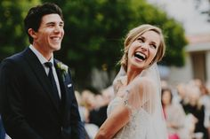 Joyful wedding ceremony in this lovely winter wedding at Villa de Amore   Image by Hom Photography