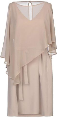 Casual Dresses, Short Dresses, Crepe Dress, Round Collar, Bell Sleeve Top, Ruffle Blouse, Textiles, Closure, Pockets